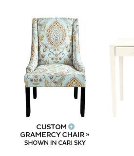 Gramercy Chair in Cari Sky