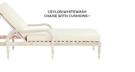 Ceylong Whitewash Chaise