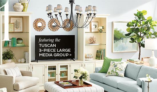 Tuscan 3 Piece Large Media Group