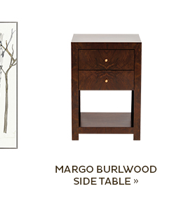 Margo Burlwood Side Table