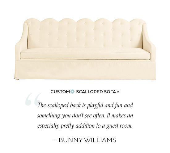Scalloped Sofa