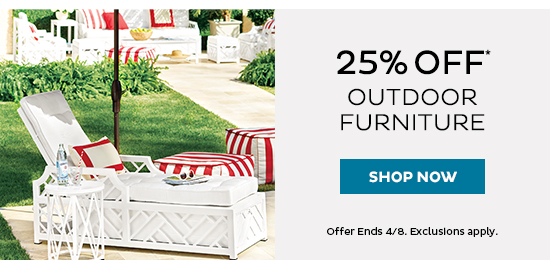25% Off Outdoor Furniture*