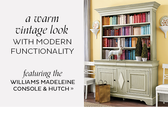 Williams Madeleine Console and Hutch