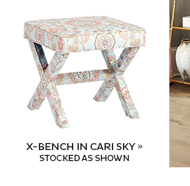 X Bench in Cari Sky